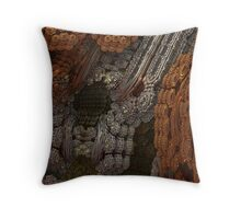 Chain Gears Throw Pillow