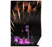 Fireworks over Disneyland Castle Poster