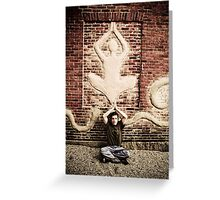 Zen Man Greeting Card