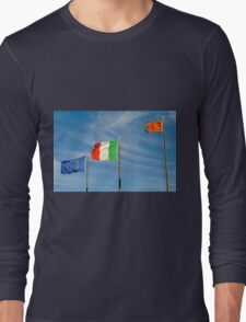 flags in the wind Long Sleeve T-Shirt