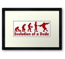 The Dude evolution red Framed Print