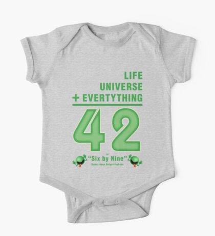 Life, the Universe, and Everything = 42 = 6x9 One Piece - Short Sleeve