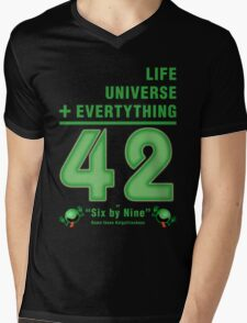 Life, the Universe, and Everything = 42 = 6x9 Mens V-Neck T-Shirt