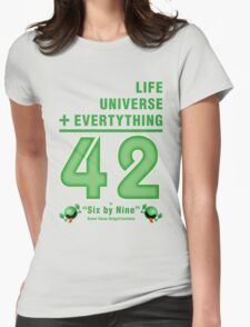 Life, the Universe, and Everything = 42 = 6x9 Womens Fitted T-Shirt