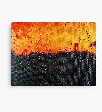 Verrazano Raindrops Canvas Print