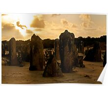110620 Nambung National Park Pinnacles Sunrise 11 Poster