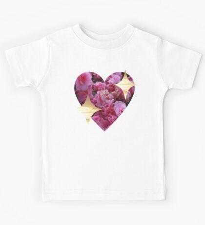 sparkly heart emoji Kids Tee