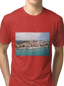 Skiathos Town harbour, Greece Tri-blend T-Shirt