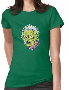 American Sad Zombie Head  Womens Fitted T-Shirt