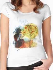 a whisper for mother nature Women's Fitted Scoop T-Shirt