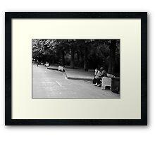 Bench moment Framed Print