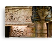 Egyptian Carvings And Columns Canvas Print