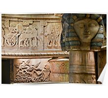 Egyptian Carvings And Columns Poster