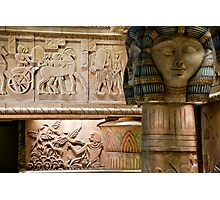 Egyptian Carvings And Columns Photographic Print