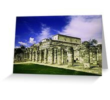 Mayan Marketplace Greeting Card