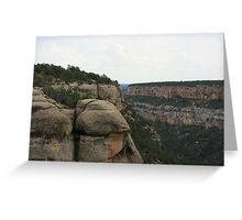 GOD'S CREATIONS ARE REMARKABLE,  MESA VERDE CANYON! Greeting Card