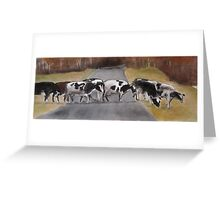 ©study of cows Greeting Card