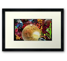Flower and Planet Garden Framed Print