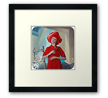 Abstract thinking of a girl named Rose about postmodernism in architecture) Framed Print