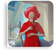 Abstract thinking of a girl named Rose about postmodernism in architecture) Metal Print