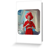 Abstract thinking of a girl named Rose about postmodernism in architecture) Greeting Card