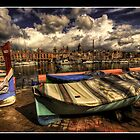 """RESTING BOATS AT SENGLEA MALTA"" by RayFarrugia"