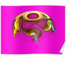 Hemisphere on Pink  (Pong 7) Poster