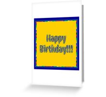 Happy Birthday (yellow) Greeting Card