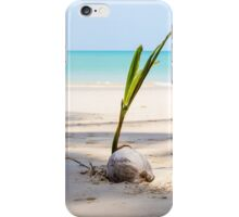 White sand beach and coconut with blue sky. iPhone Case/Skin