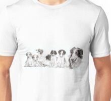 Growing Up Borzoi Unisex T-Shirt
