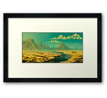 Sunset on savannah Framed Print