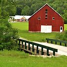 Red Barn Scene by Sheryl Gerhard