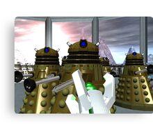 Daleks - Oops! Canvas Print