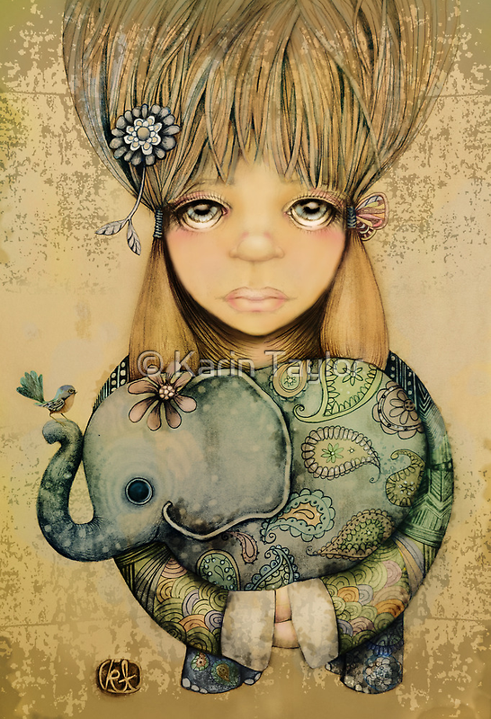 elephant child by © Cassidy (Karin) Taylor