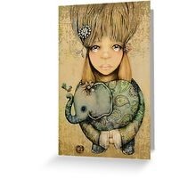 elephant child Greeting Card