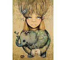 elephant child Photographic Print