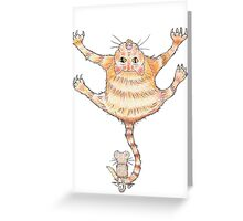 Ooch Ouch, Cat & Mouse! Greeting Card