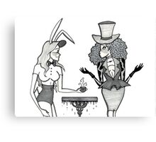 The March Hare and the Mad Hatter Canvas Print