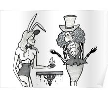 The March Hare and the Mad Hatter Poster