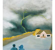 Big skies: watching the storm Photographic Print