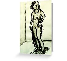 sculpture of female form Greeting Card