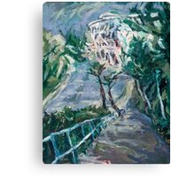 Composition in Blue and Green  Canvas Print
