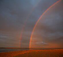 rainbow sunrise. inverloch, victoria by tim buckley | bodhiimages