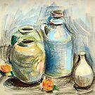 Still life in pastel by Karin Zeller