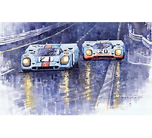 Gulf-Porsche 917 K Spa Francorchamps 1970 Photographic Print