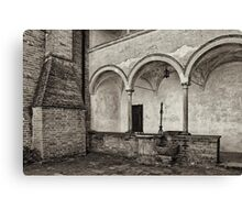 Well and arcade Canvas Print