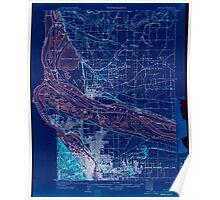 USGS Topo Map Oregon Portland 282794 1905 62500 Inverted Poster