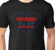 GRANDMA OF TWINS DOUBLE THE LOVE Unisex T-Shirt