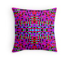 Swinging Psychedelia Throw Pillow