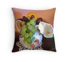 Fruit and Flower Throw Pillow